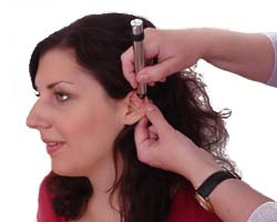 Detection of ear and skull acupuncture